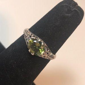 Sterling & peridot 925 CNA size 7.25 ring